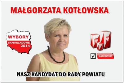 Wybory 2014 - Małgorzata Kotłowska kandydatka do rady Powiatu